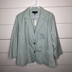 Talbots Mint Green Blazer Suit Jacket Two Button